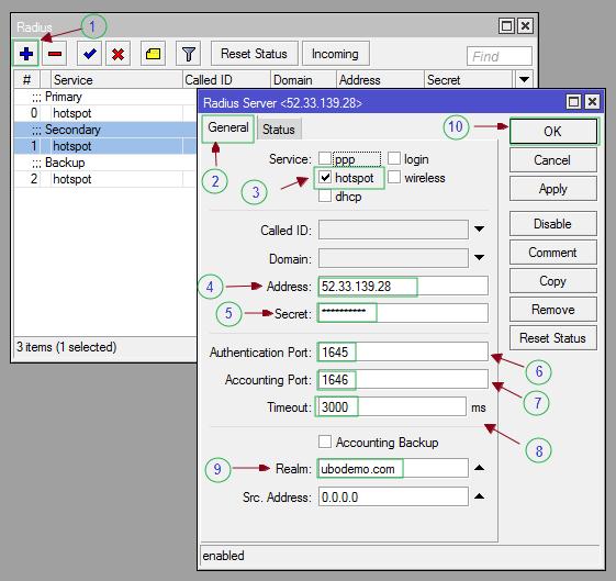 Configure Hotspot - VISP